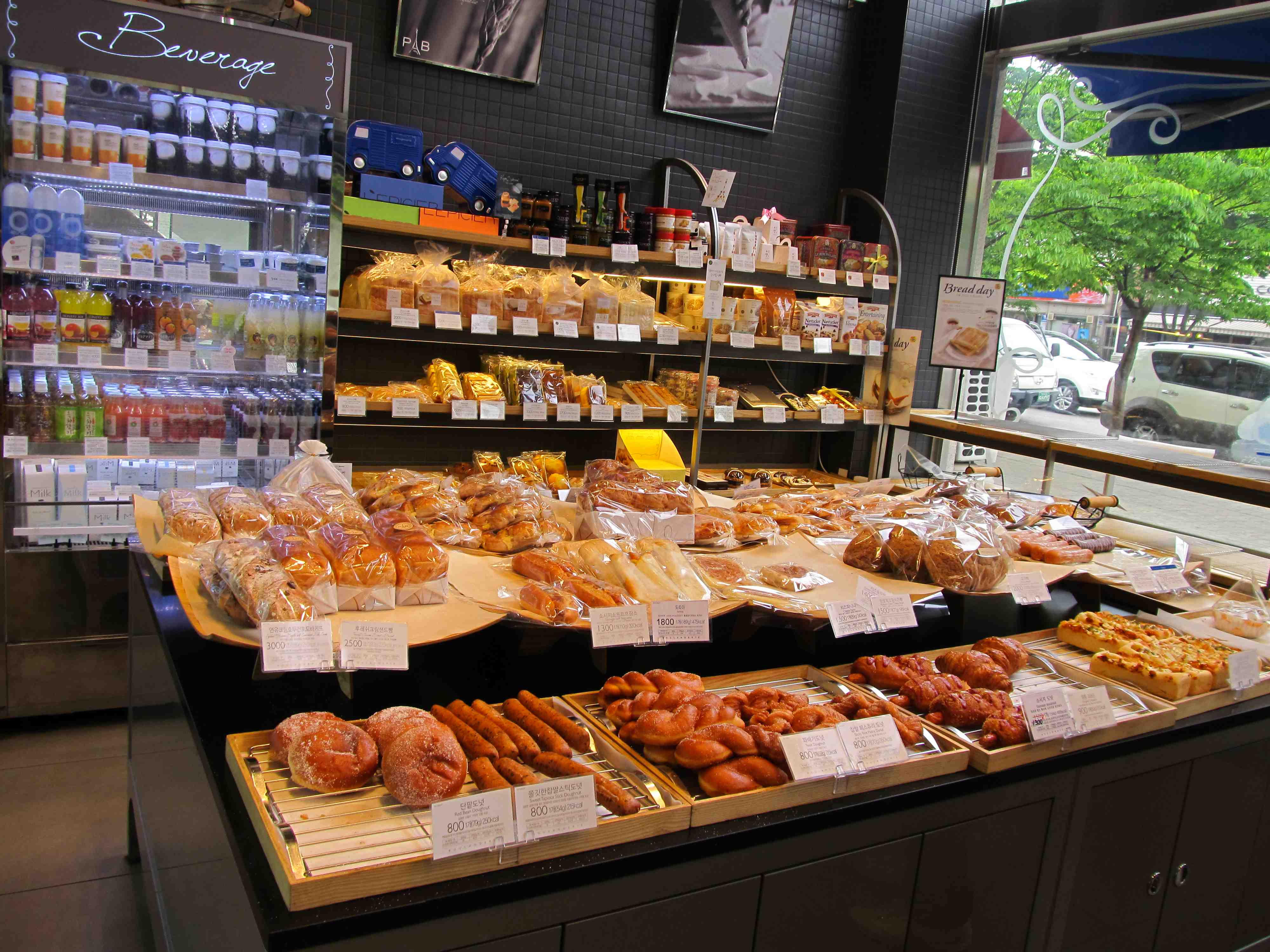 Down the street from the hotel is Paris Baguette, which serves French