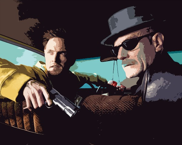 Jessie and Heisenberg Breaking Bad